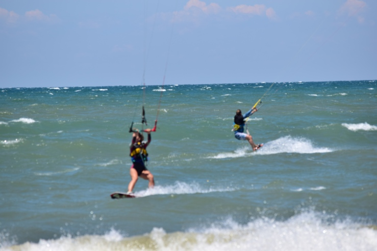 Kiteboarding on Lake Erie